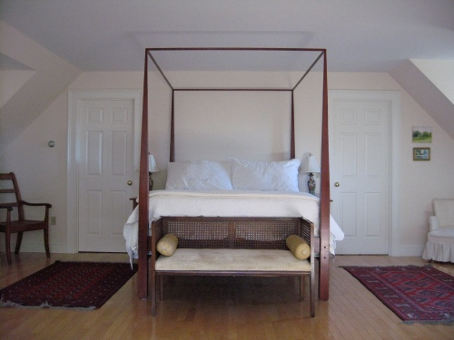 solid cherry, custom shaker style bed